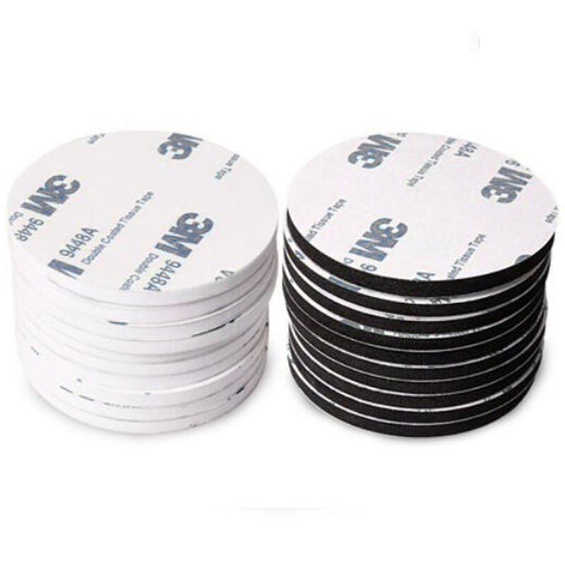 30mm 3m White Double Sided Foam Tape Adhesive Round Patch