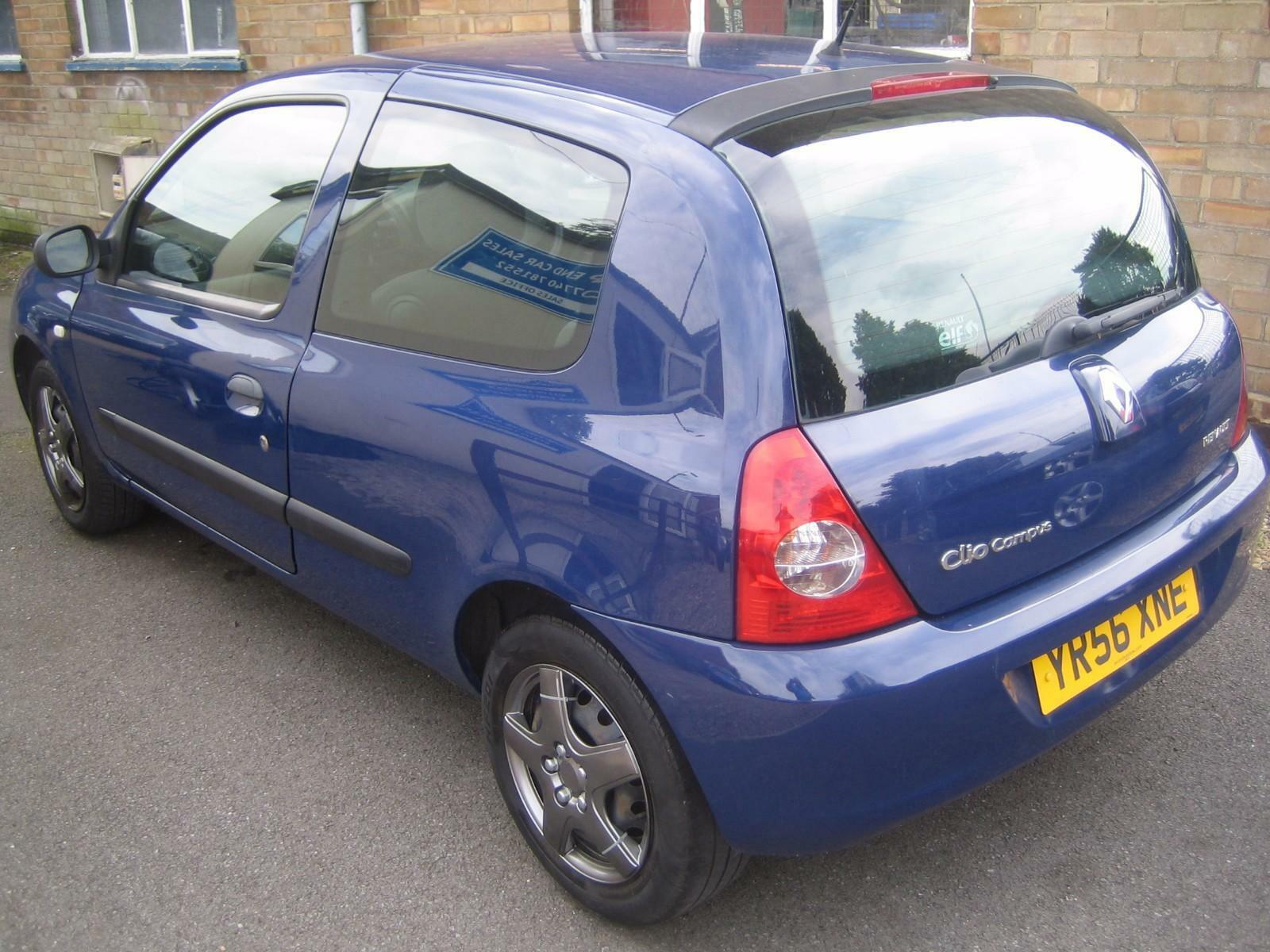 56 renault clio 1 2 60bhp campus 3 door picclick uk. Black Bedroom Furniture Sets. Home Design Ideas