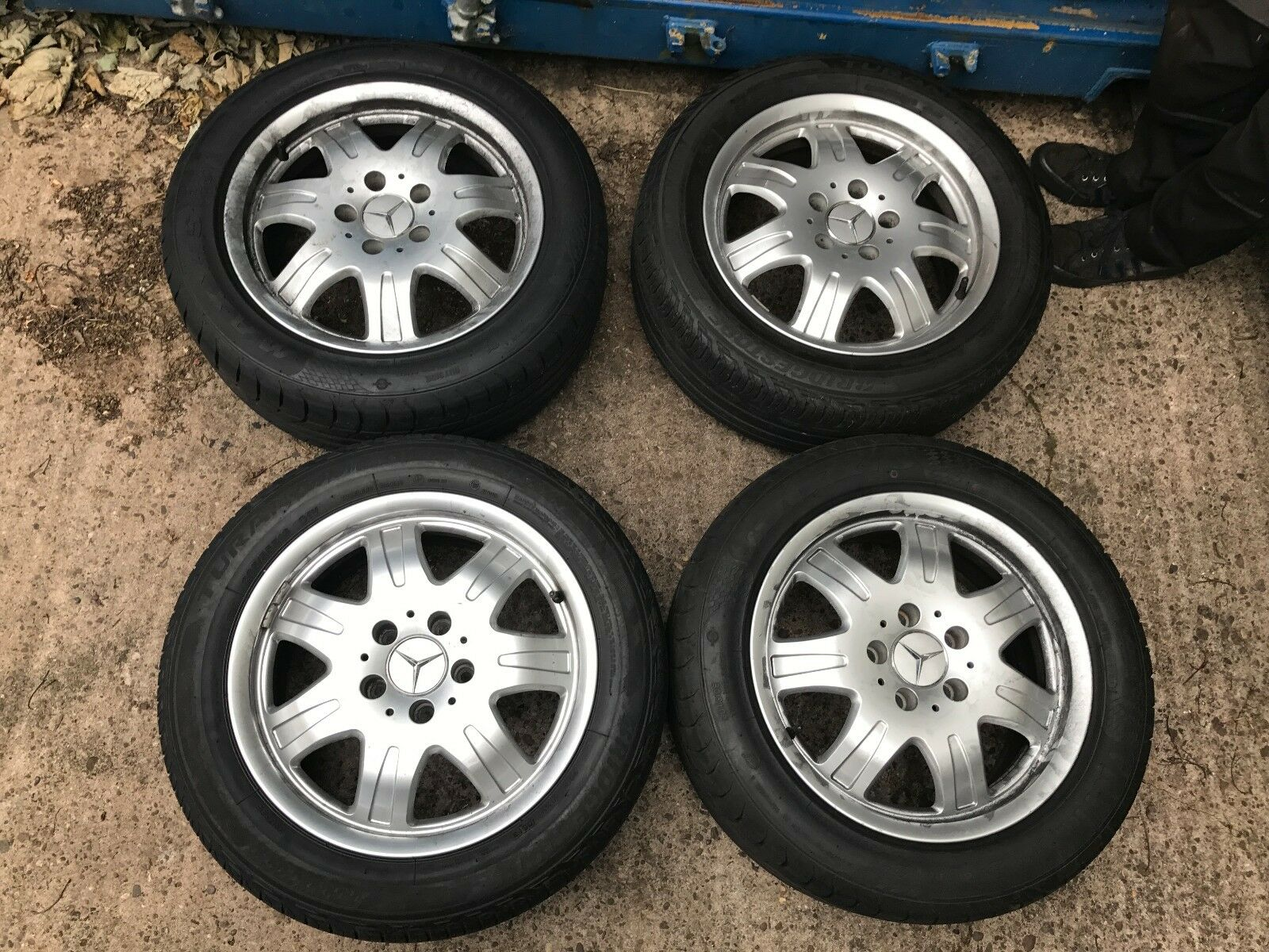 Set of 4 genuine mercedes benz 5x112 16 alloy wheels for Mercedes benz mag wheels