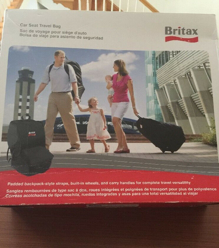 Britax Car Seat Travel Bag Black New Open Box 1 Of 6only Available