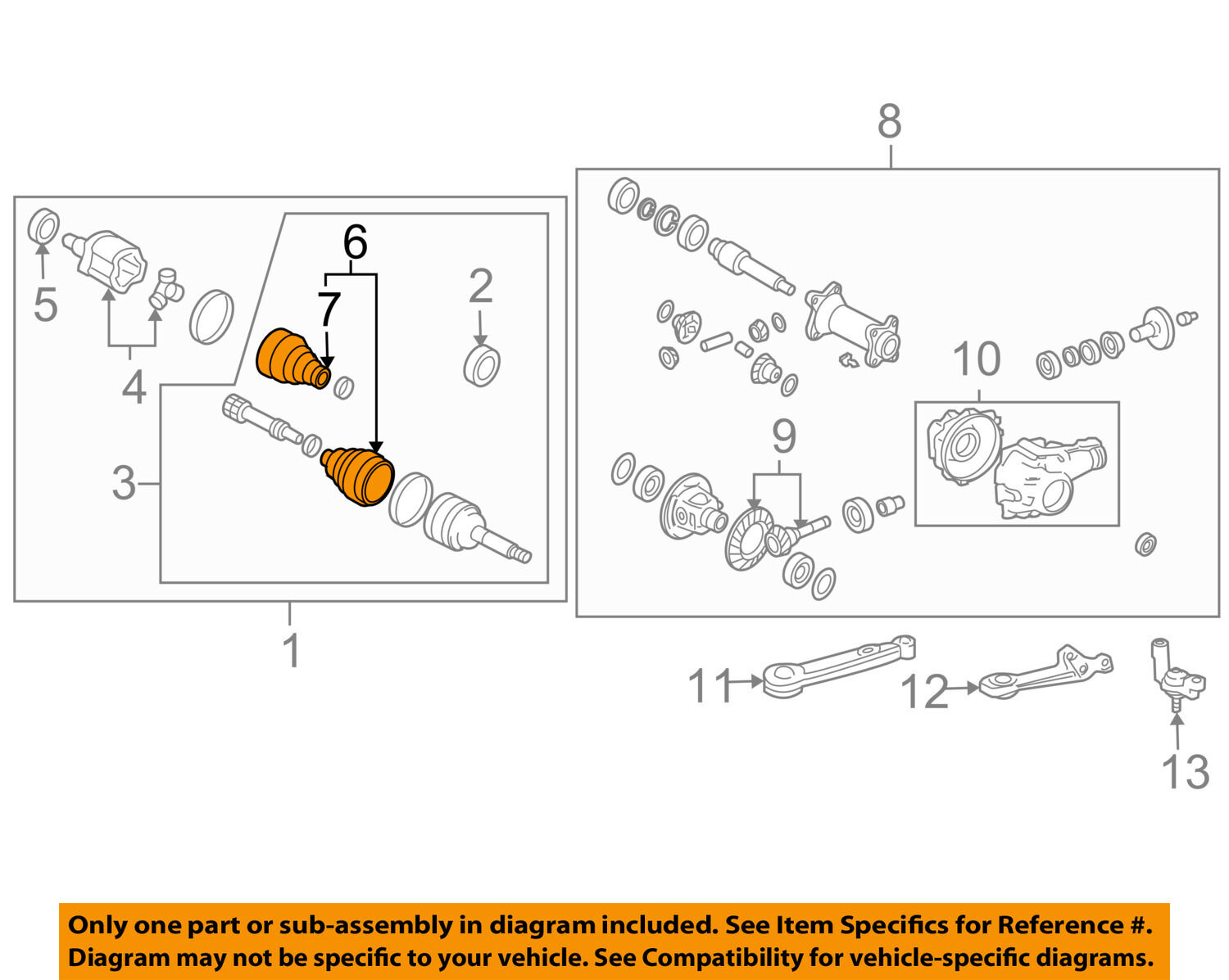 Toyota Oem Front Cv Axle Joint Boot 0442760140 3600 Picclick Diagram 1 Of 2only 3 Available