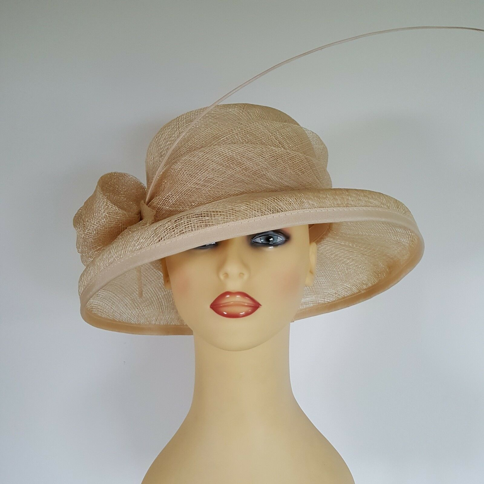 Ladies Formal Wedding Hat Races Mother Bride Golden Cream By Balfour 1 Of 7Only Available