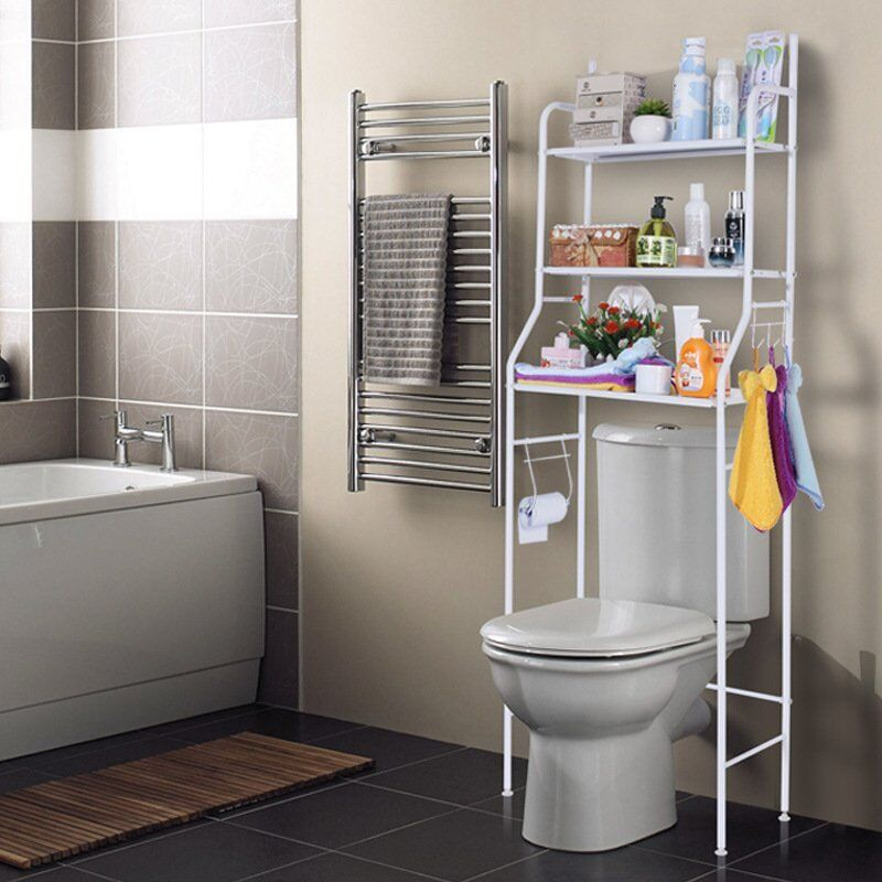 3 Shelf Over Toilet Bathroom Storage Organizer Cabinet Space Saver Towel  Rack MX 1 Of 8Only 4 Available See More