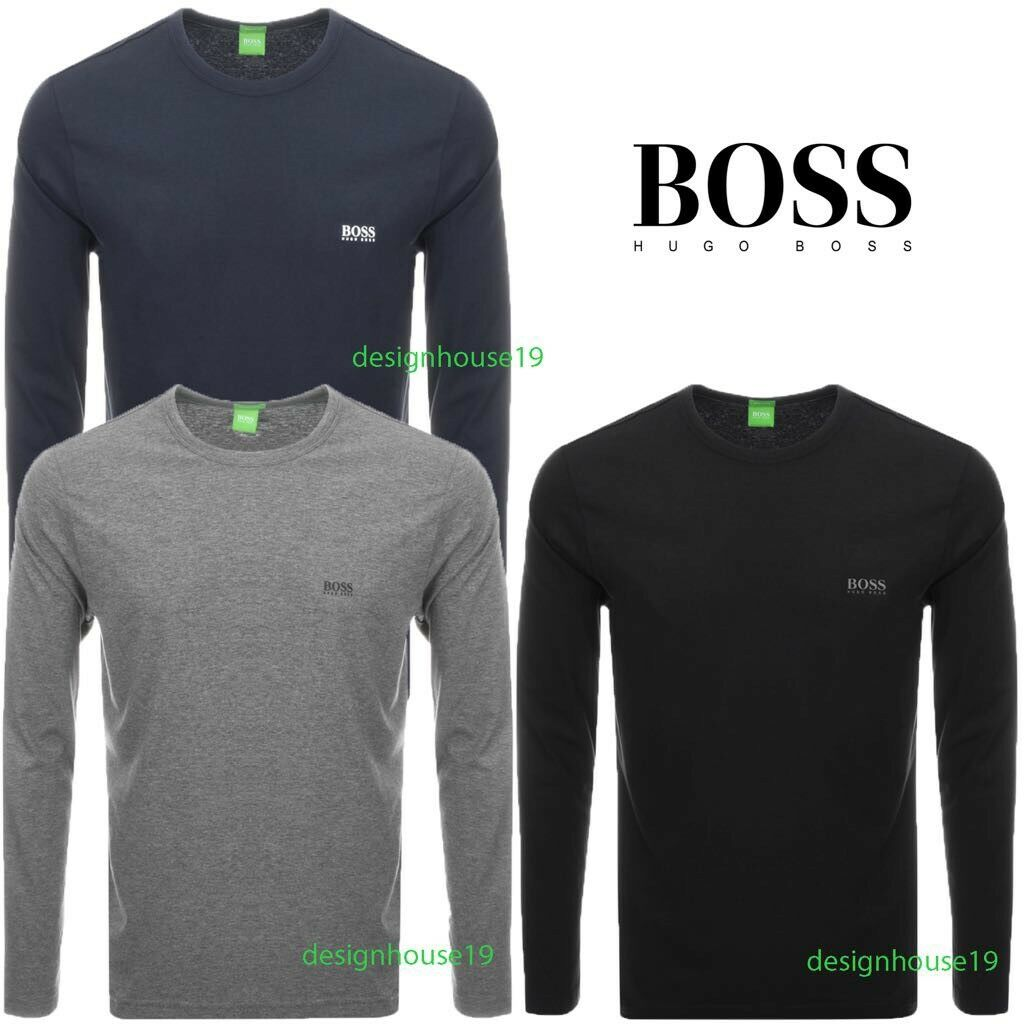 Hugo boss polo mens crew neck long sleeve t shirt size s m for Hugo boss polo shirts xxl