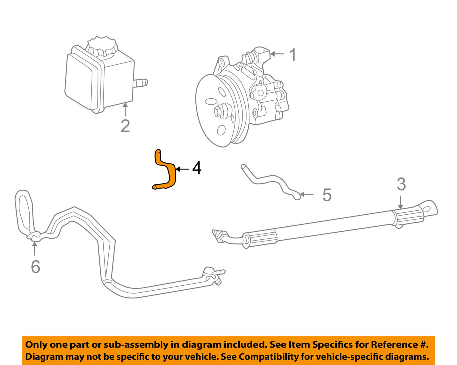 Mercedes Oem 01 05 C320 Power Steering Pump Upper Return Line Hose Engine Diagram 1 Of 2only Available