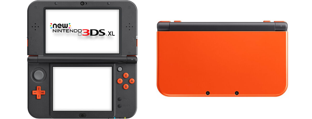 39 new 39 nintendo 3ds xl special edition orange black console. Black Bedroom Furniture Sets. Home Design Ideas