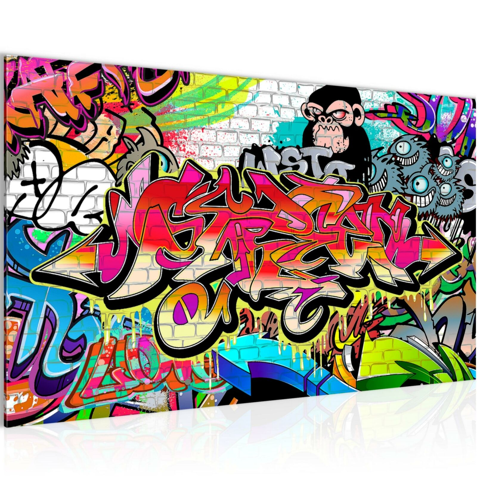 wandbild bilder graffiti vlies leinwand bild xxl kunstdruck 401714 eur 16 98 picclick de. Black Bedroom Furniture Sets. Home Design Ideas