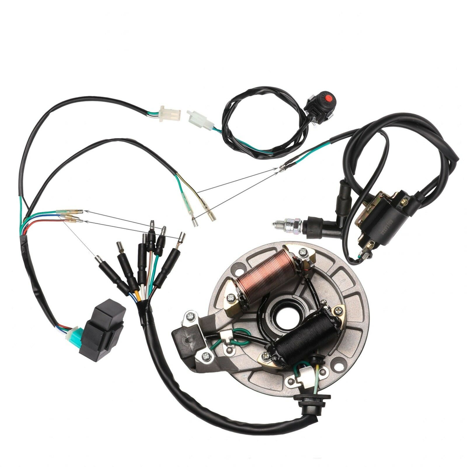 Full Electrics Wiring Harness Coil Cdi Stator Ignition For 50cc 1 Of 12free Shipping