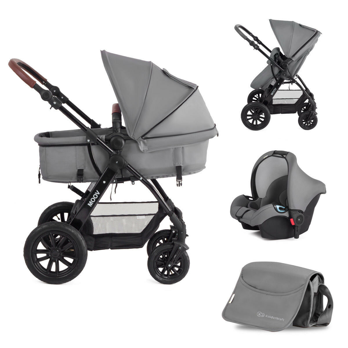 kinderkraft moov multi kinderwagen kombikinderwagen 3in1 mit buggy babyschale eur 269 95. Black Bedroom Furniture Sets. Home Design Ideas