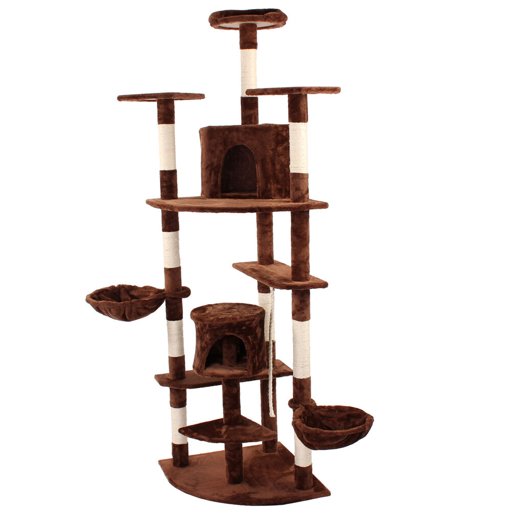 kratzbaum katzenbaum katzenkratzbaum kletterbaum sisal deckenhoch braun eur 32 71 picclick at. Black Bedroom Furniture Sets. Home Design Ideas