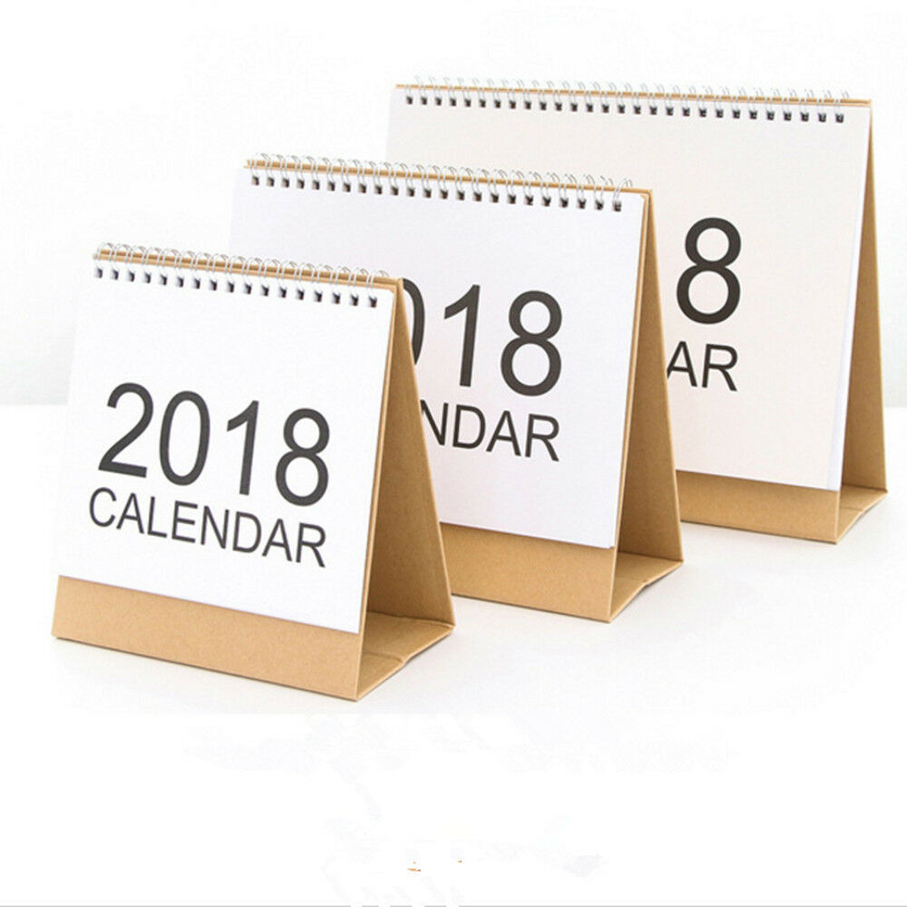 2018 Desk Top Flip Calendar Month To View Stand Up Office