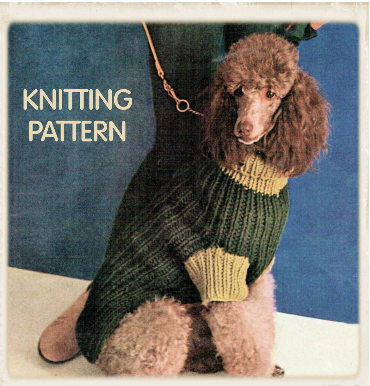 Vintage Knitting Pattern Copy -To Knit Dogs Coats In 3 Sizes -Super Chunky Ya...