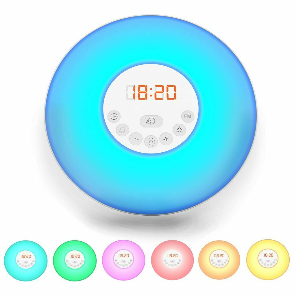 led wake up light stimungs licht wecker kinder radiowecker sonnenaufgangfunktion eur 21 90. Black Bedroom Furniture Sets. Home Design Ideas