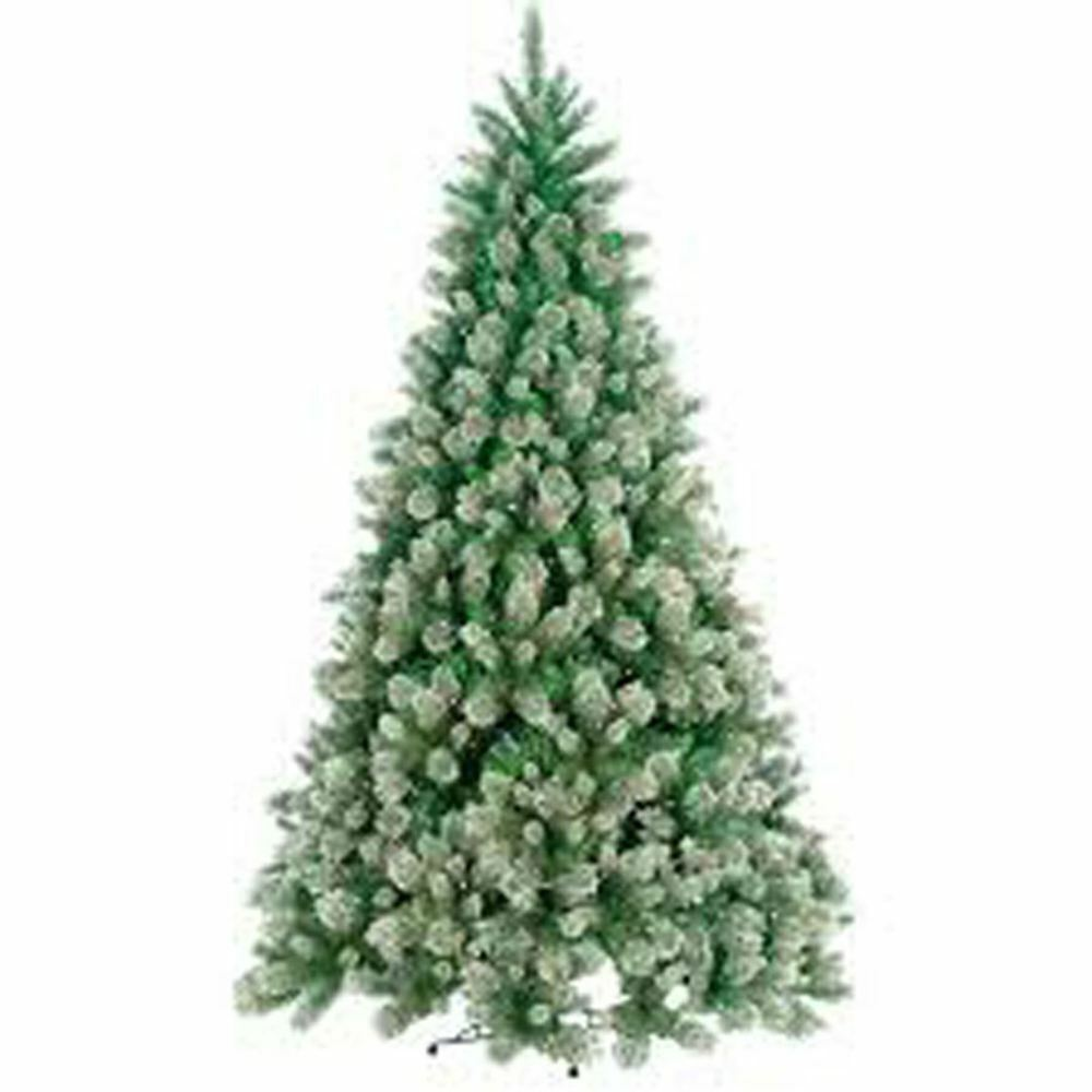 Kraftz 1 8m 6ft artificial frosted xmas tree with pine for Pine cone xmas tree