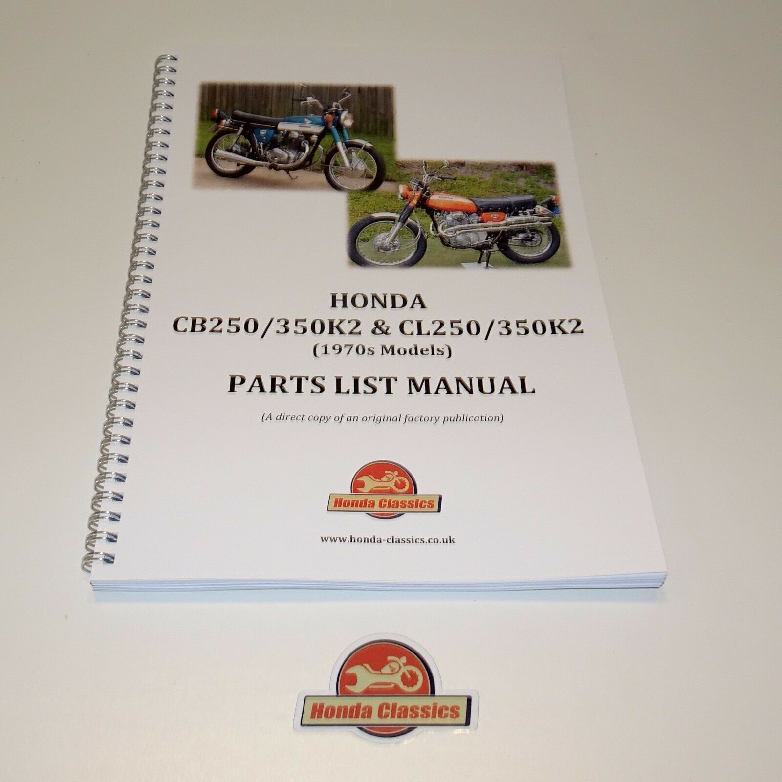 honda cb250 cb350 cl250 cl350 k2 1970s parts list book reproduction rh picclick co uk