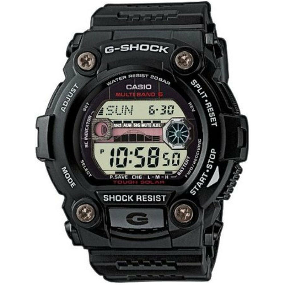 Casio G Shock Mens Wrist Watch Solar Automatic Digital Black Resin 7710 1dr 1 Of 2free Shipping