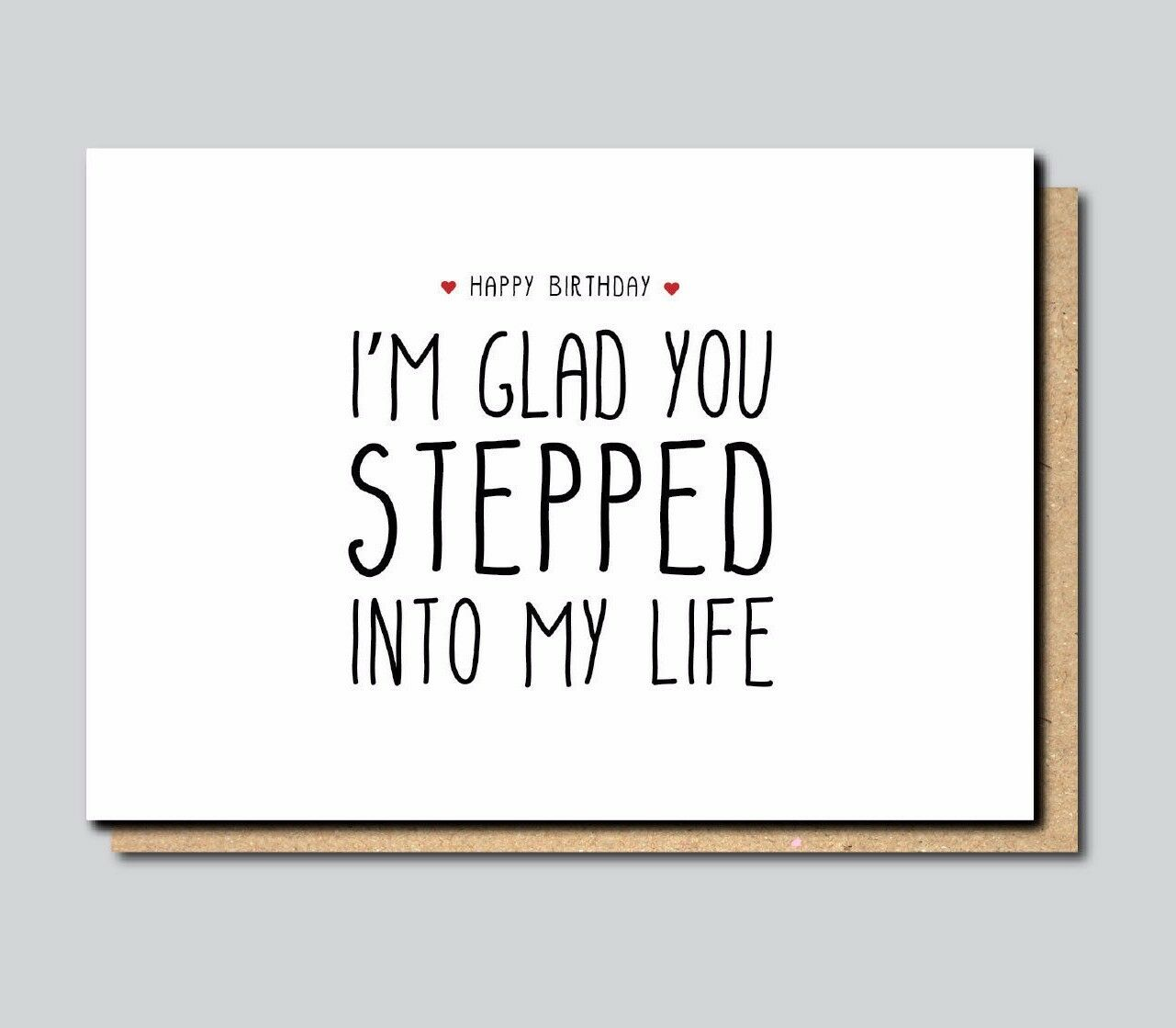 Funny Greeting Card For Stepdad Stepfather Birthday Fathers Day
