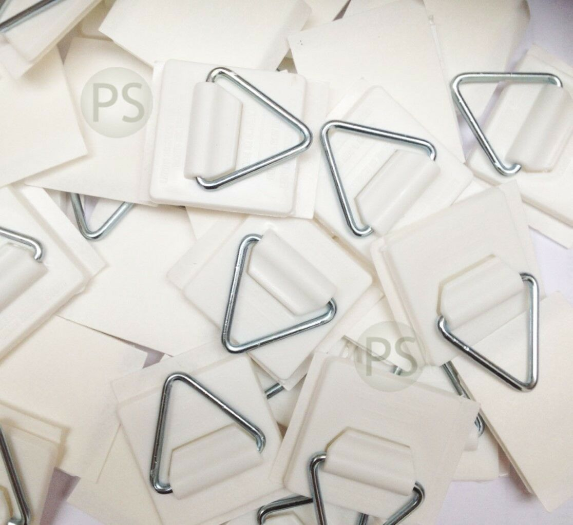 30 X SMALL Self Adhesive Plate Picture Hanger/Hook/ Sticky Pads ...