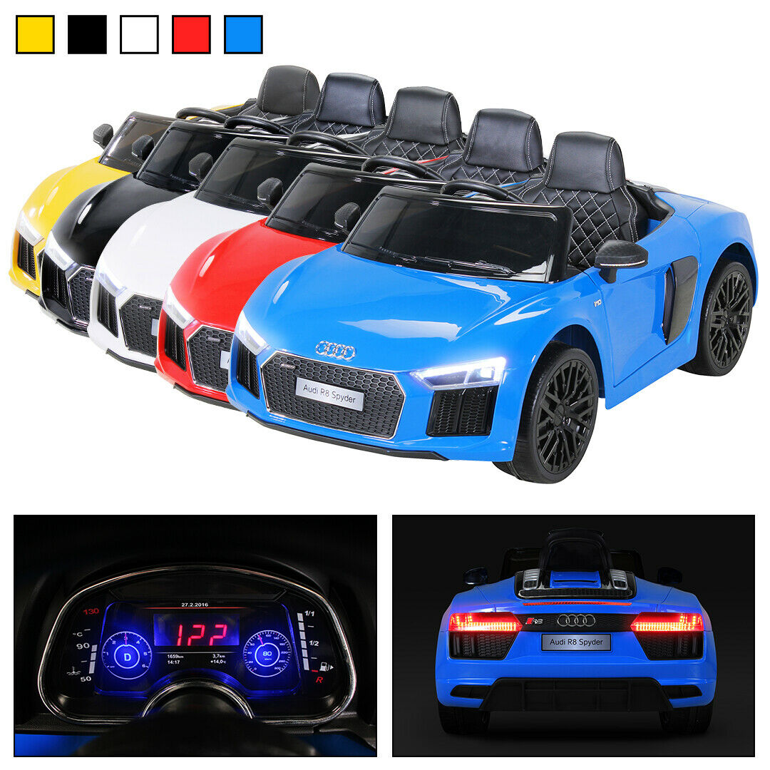 kinder elektro auto audi r8 spyder lizenziert kinderauto. Black Bedroom Furniture Sets. Home Design Ideas