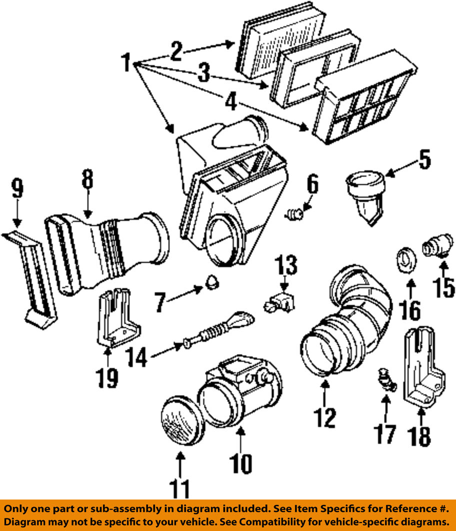Bmw Oem 98 02 Z3 32l Air Cleaner Intake Assembly Buffer Diagram Of 1998 Engine 1 1only Available