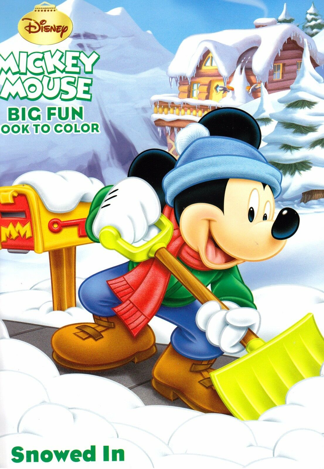 disney mickey mouse christmas coloring book snowed in 5 49