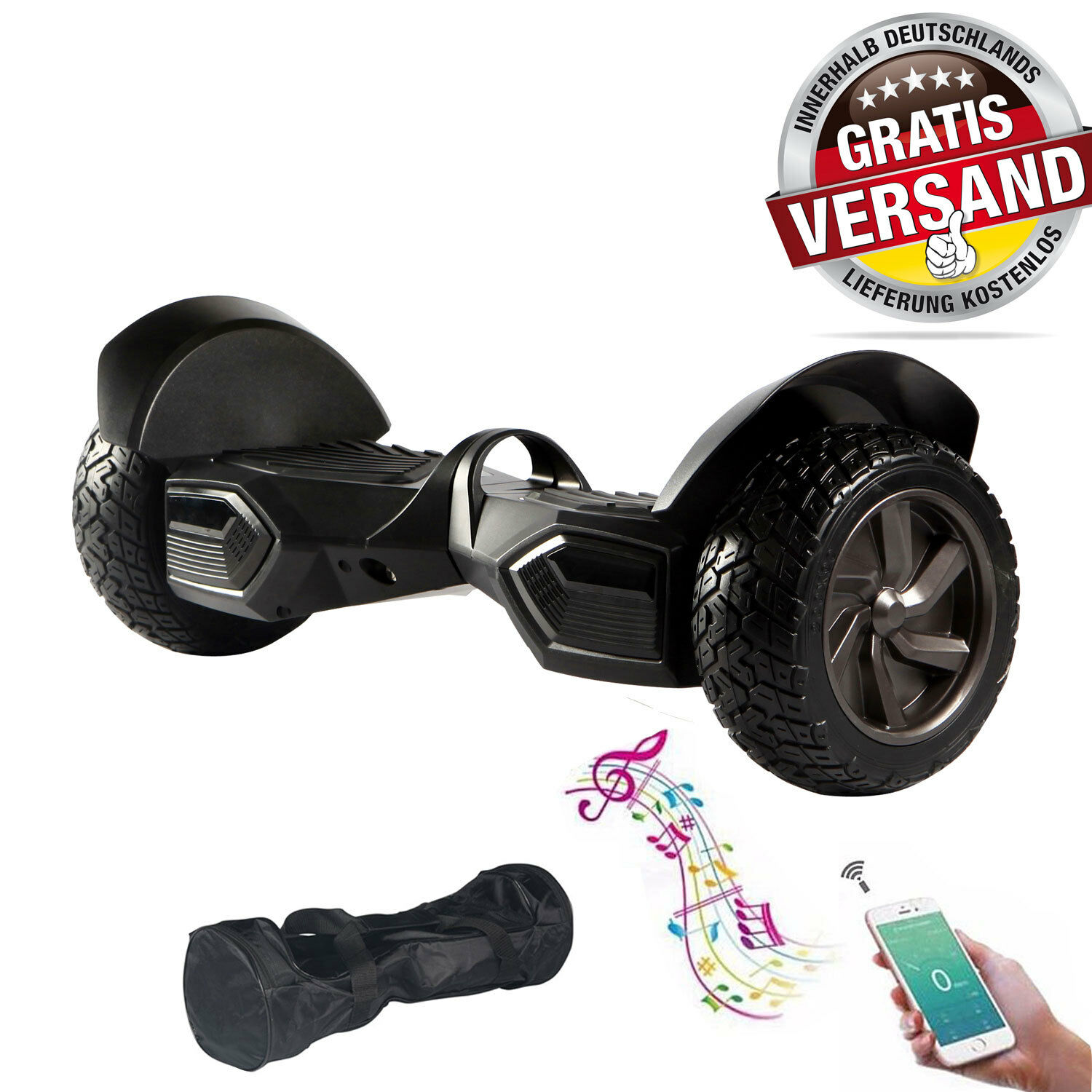 hoverboard 8 5 zoll mit griff bluetooth tasche samung akku self balance scooter picclick de. Black Bedroom Furniture Sets. Home Design Ideas