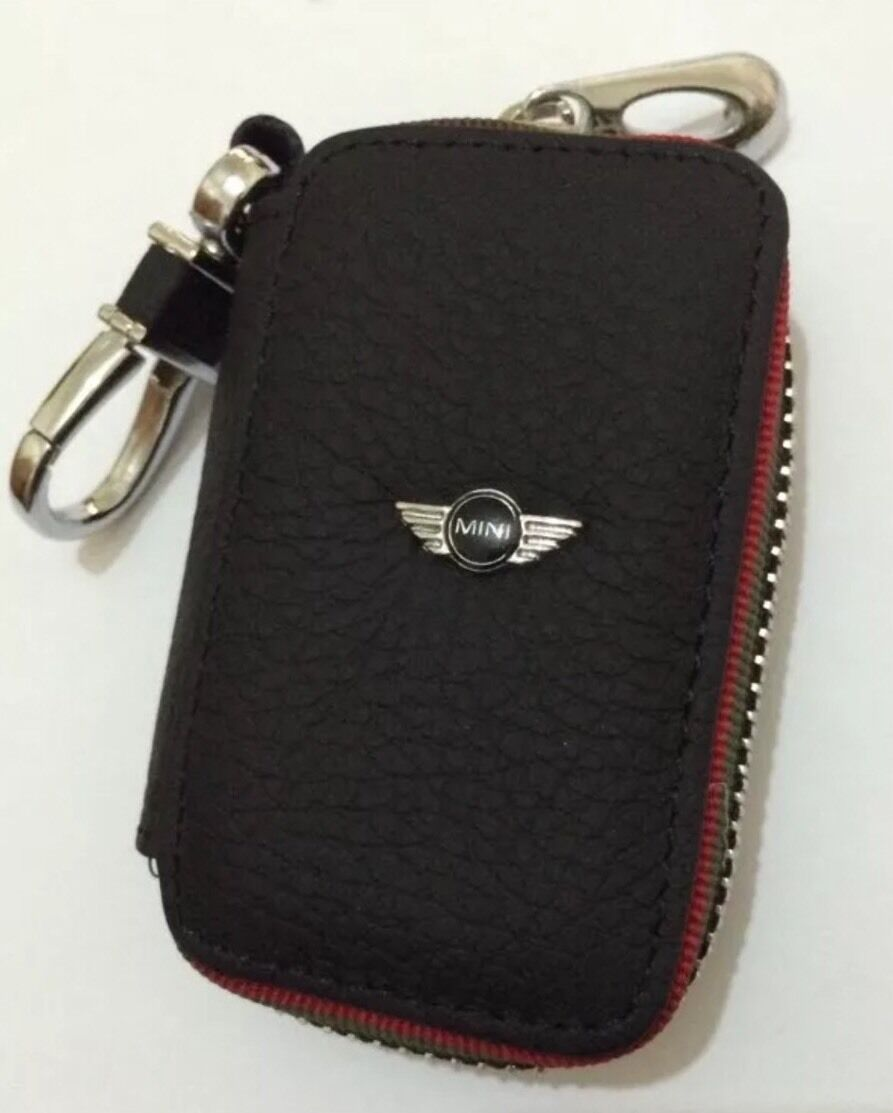 mini cooper genuine leather key cover case holder ring chain fob eur 9 13 picclick nl. Black Bedroom Furniture Sets. Home Design Ideas