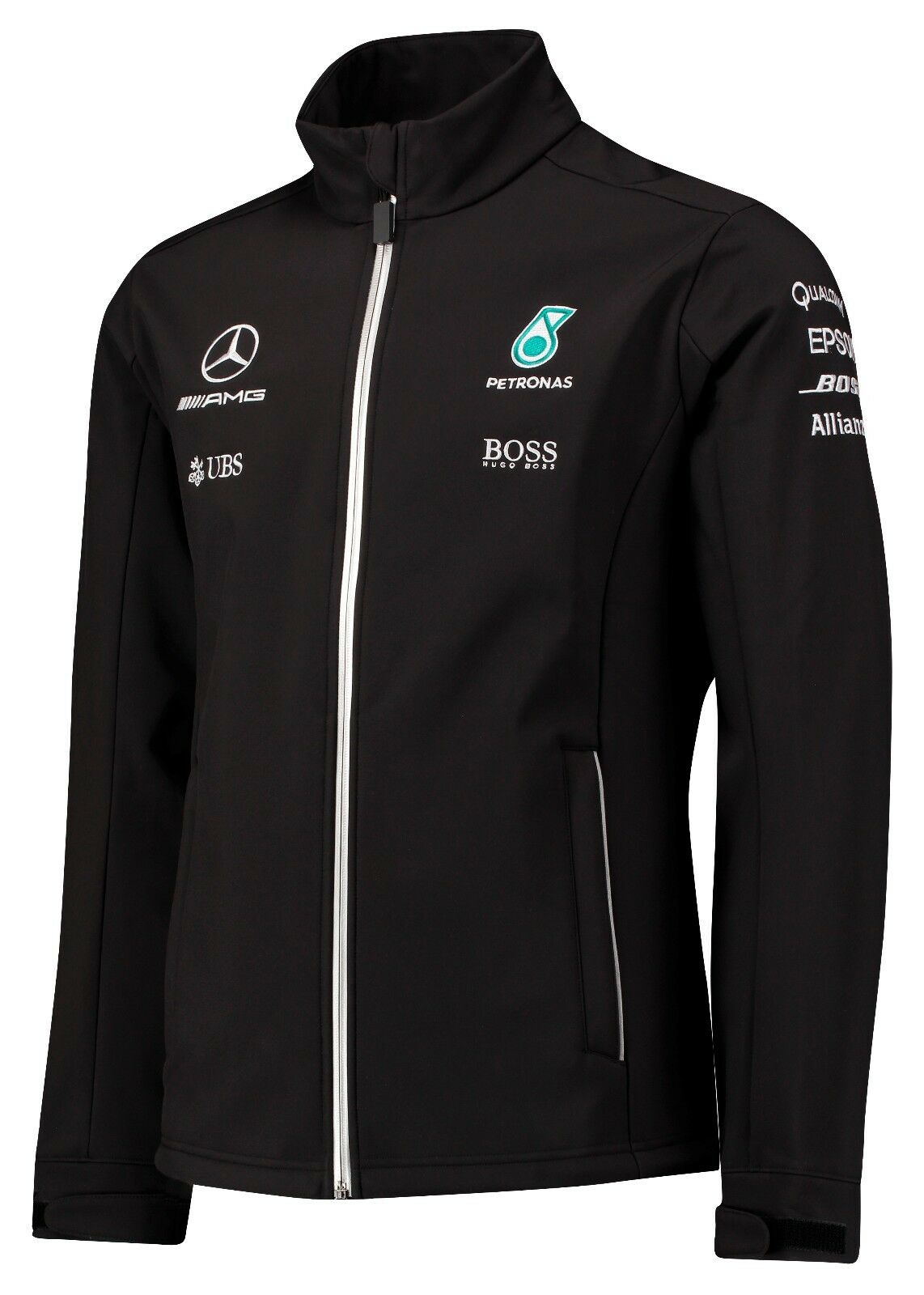 2017 official f1 mercedes amg petronas team soft shell for Mercedes benz jacket