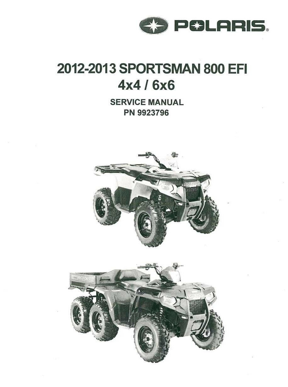 2012 2013 Polaris Sportsman 800 EFI 4x4 6x6 Big Boss service manual on CD 1  of 2FREE Shipping ...