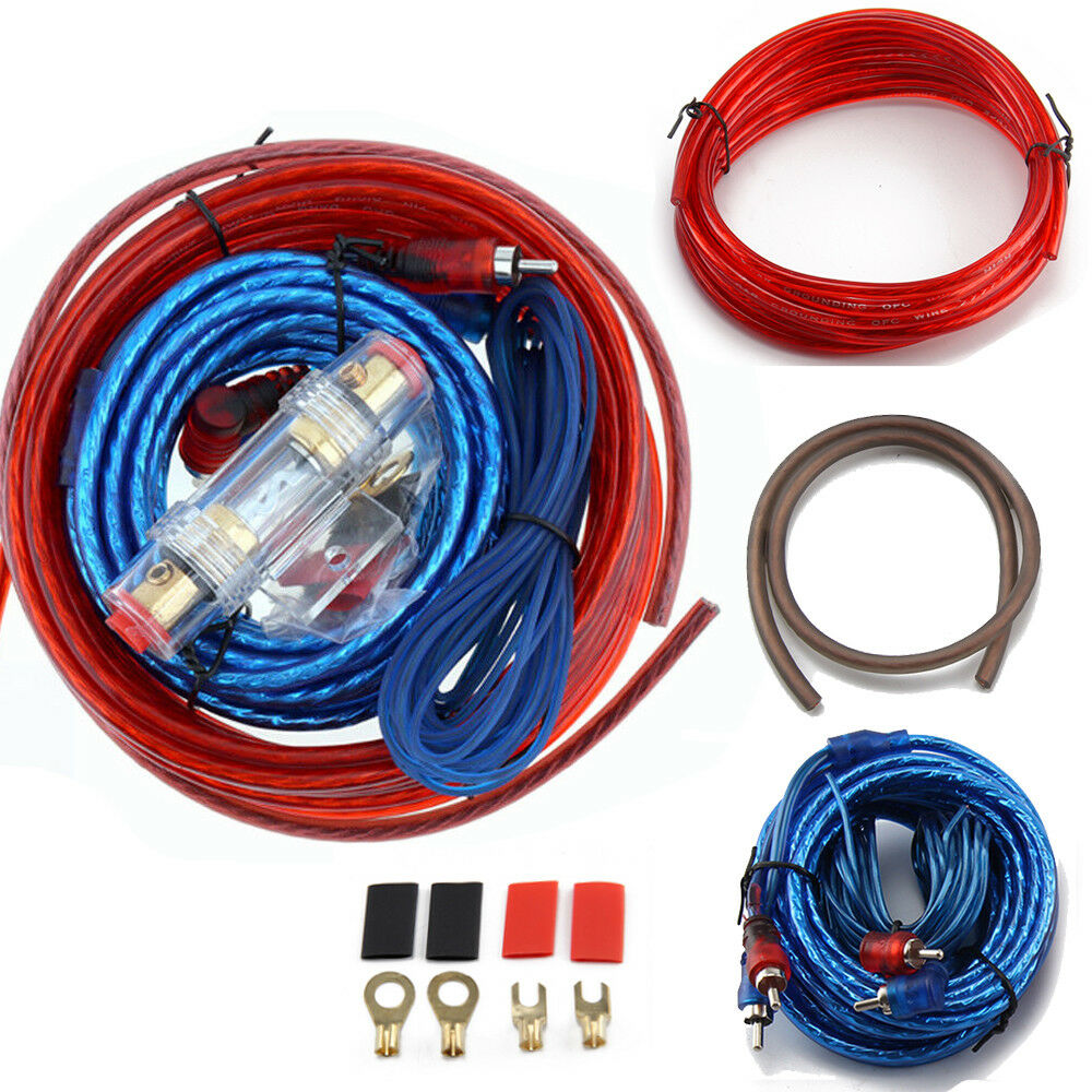 1500w Complete 10 Awg Gauge Car Amp Audio Amplifier Cable Subwoofer Wiring Kits For Amps Kit 1 Of 1free Shipping See More