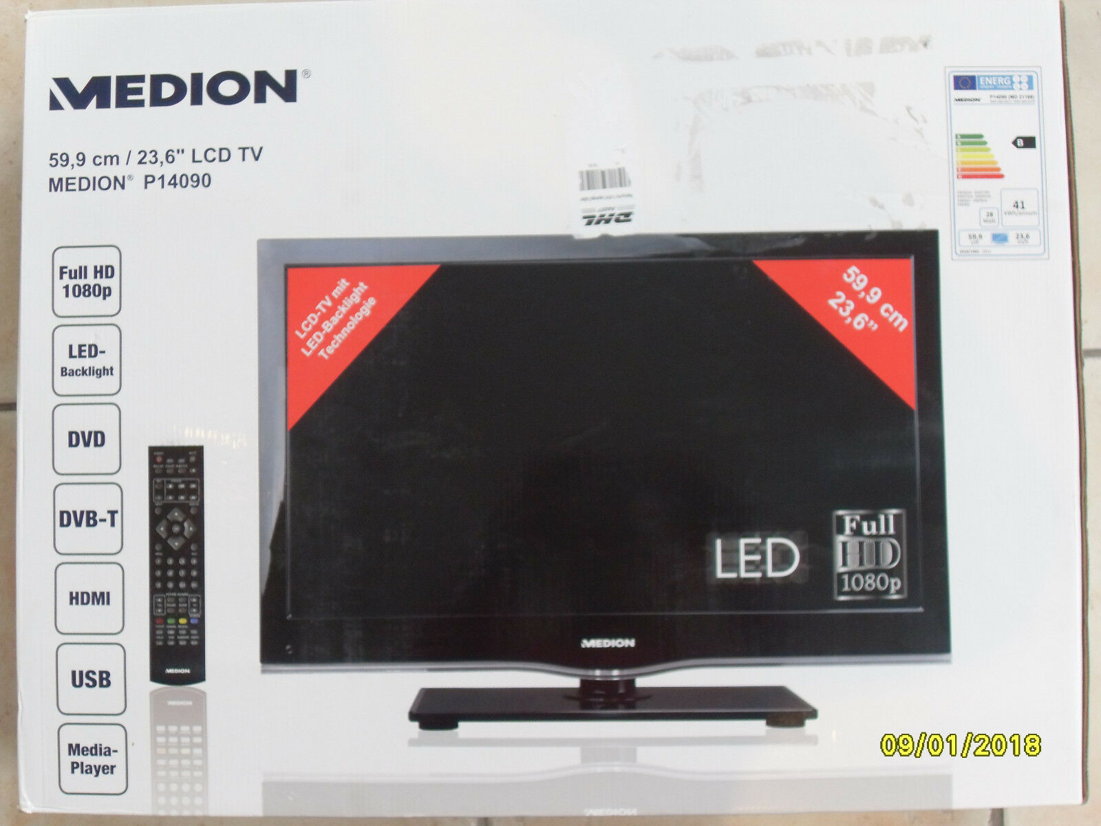 medion lcd fernseher p14090 1080p full hd led mit. Black Bedroom Furniture Sets. Home Design Ideas