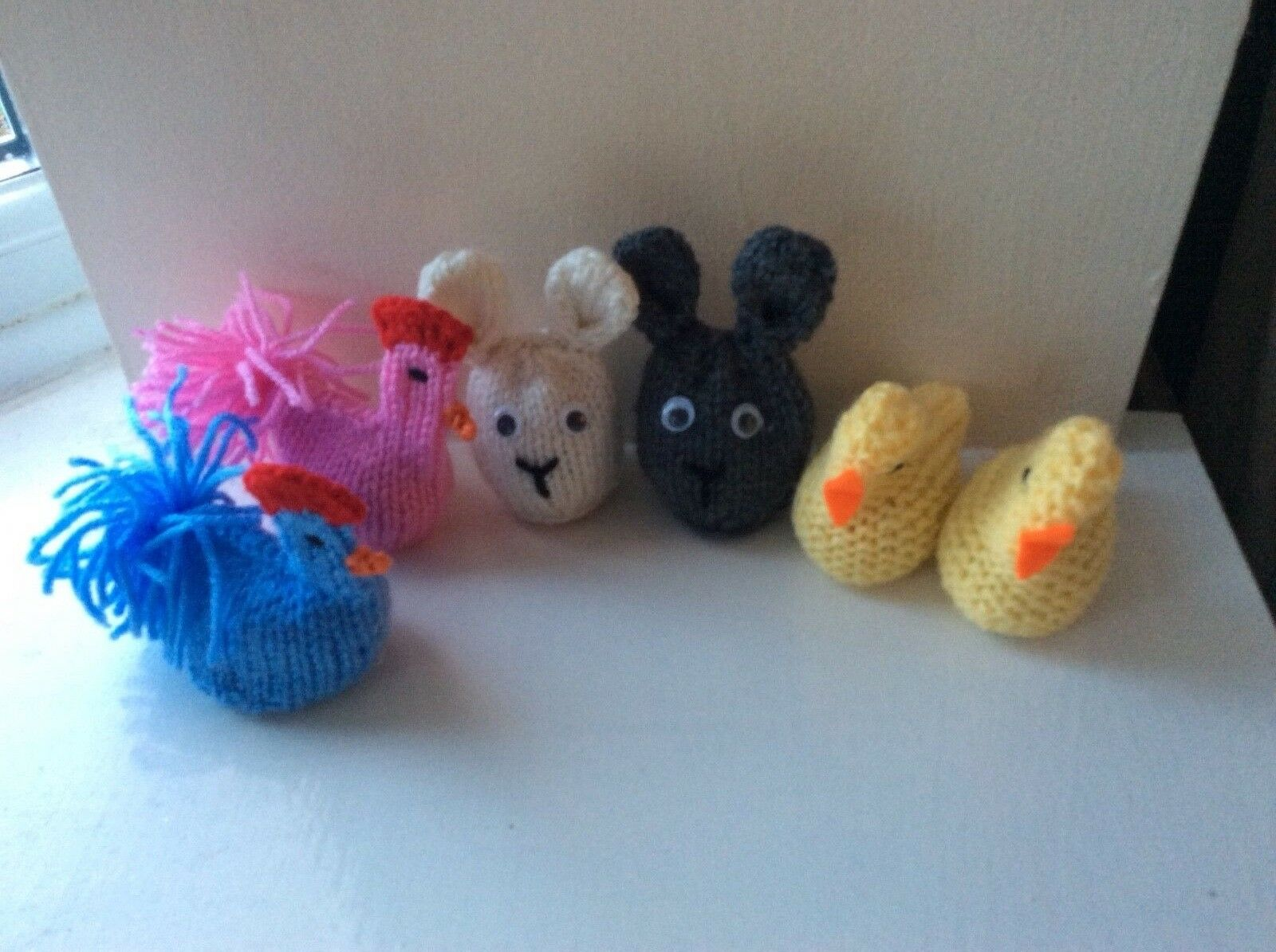 3X EASTER CHICK AND RABBIT KNITTING PATTERN TO COVER CREME EGG FUND ...