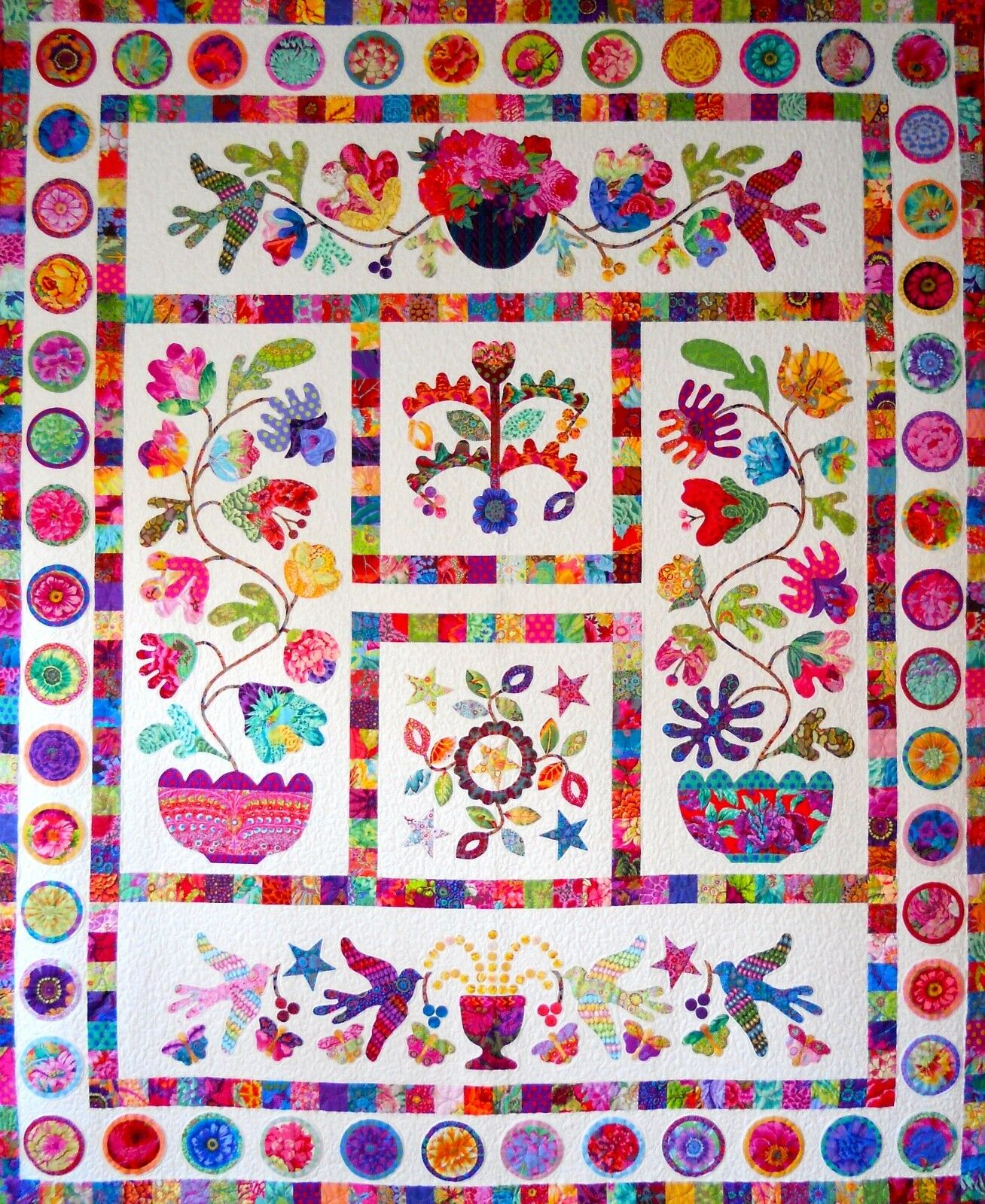 Flower Applique Quilt Patterns Amazing Design