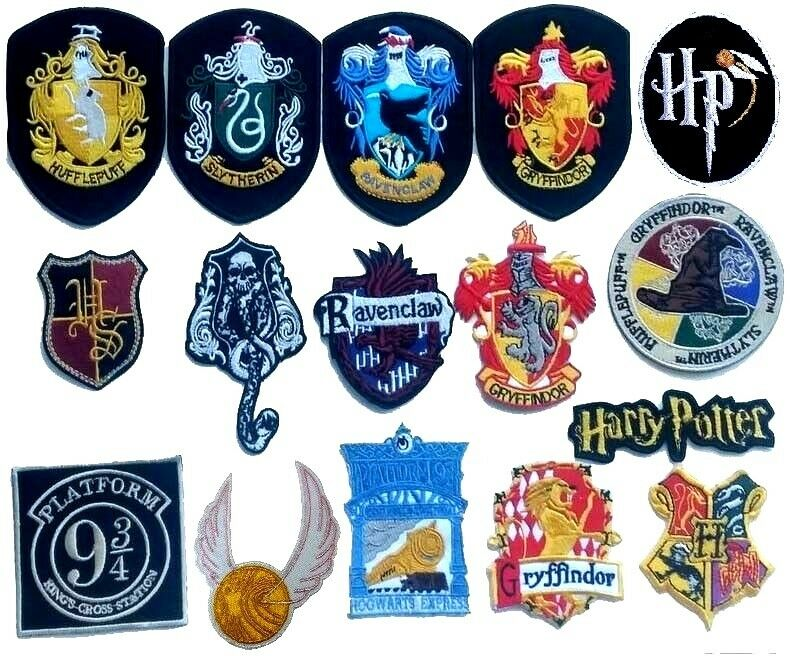Harry Potter Iron On Patch Gryffindor Slytherin Hufflepuff Ravenclaw