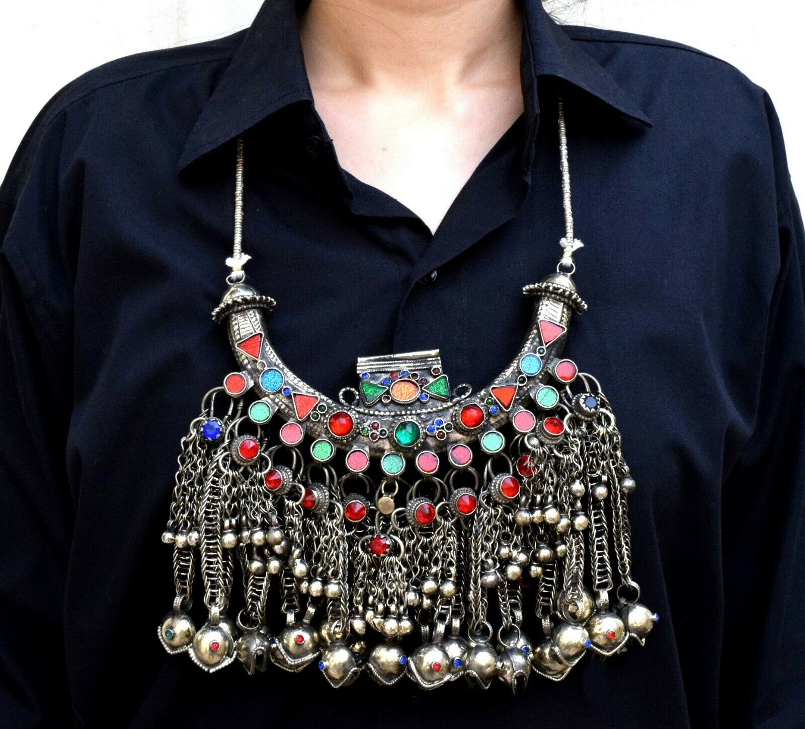 Rare afghan kuchi pendant necklace tribal boho belly dance ethnic 1 of 4only 1 available aloadofball Images