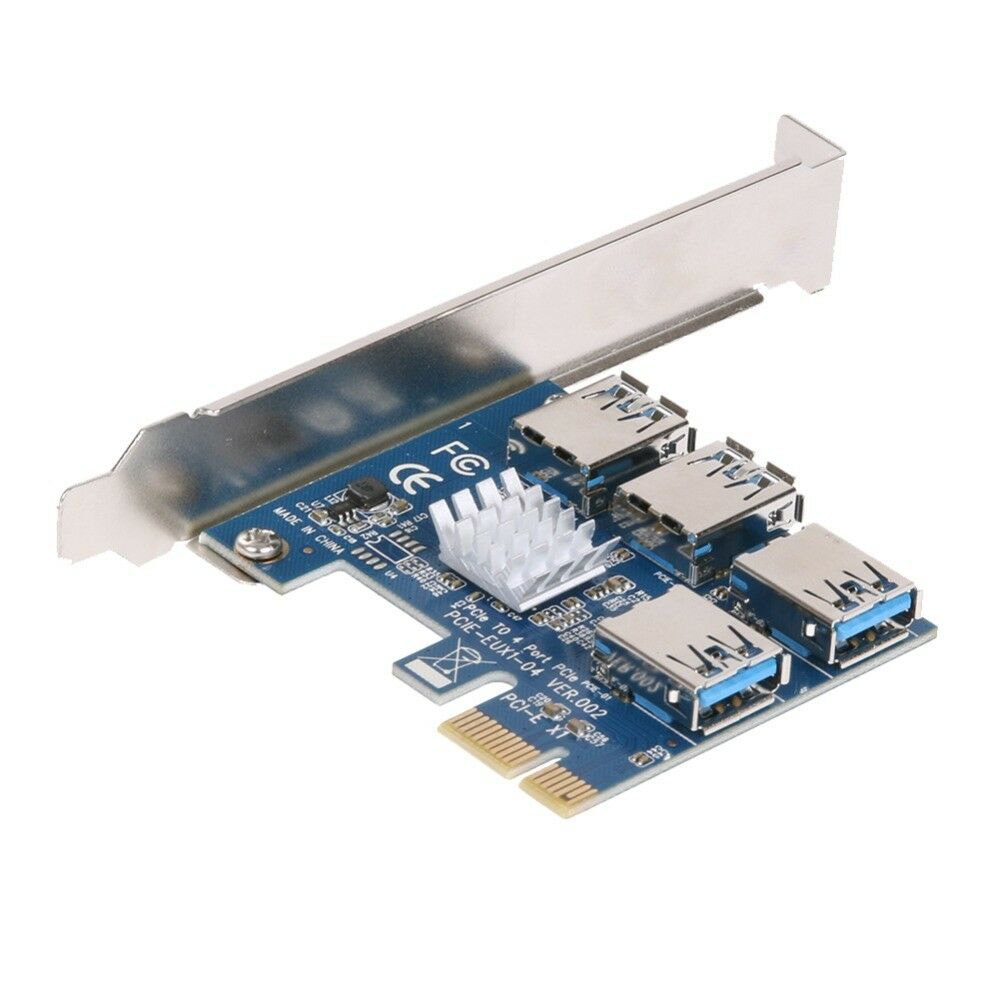 Pcie 1 To 4 Pci Express 16x Slots Riser Card E 1x External Of 3free Shipping See More