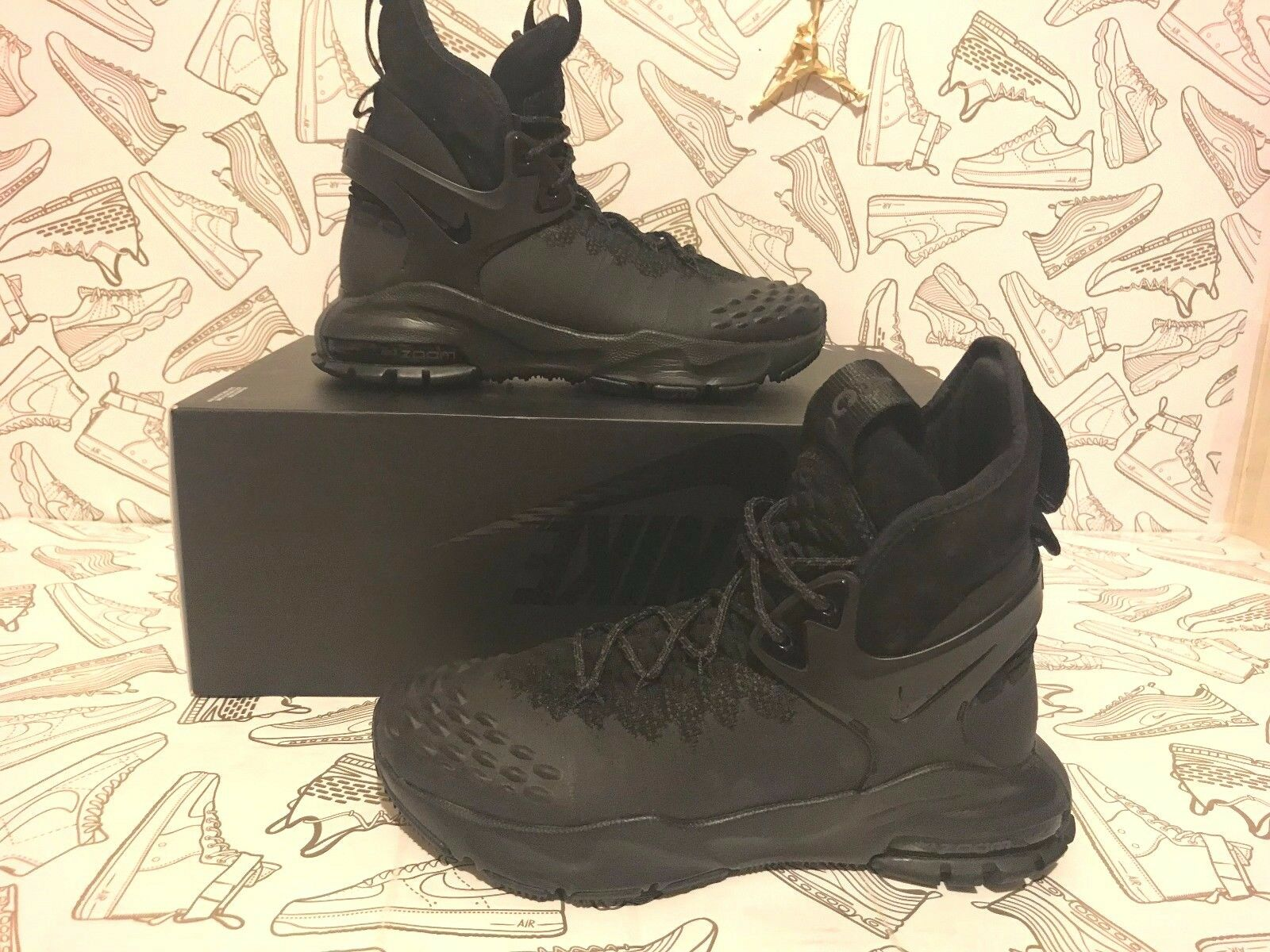 NikeLab Nike Zoom Tallac Flyknit ACG Boots 865947 001 Black Mens Sz  6.5=Wmens 8 1 of 9Only 4 available NikeLab Nike Zoom Tallac Flyknit ACG  Boots ...