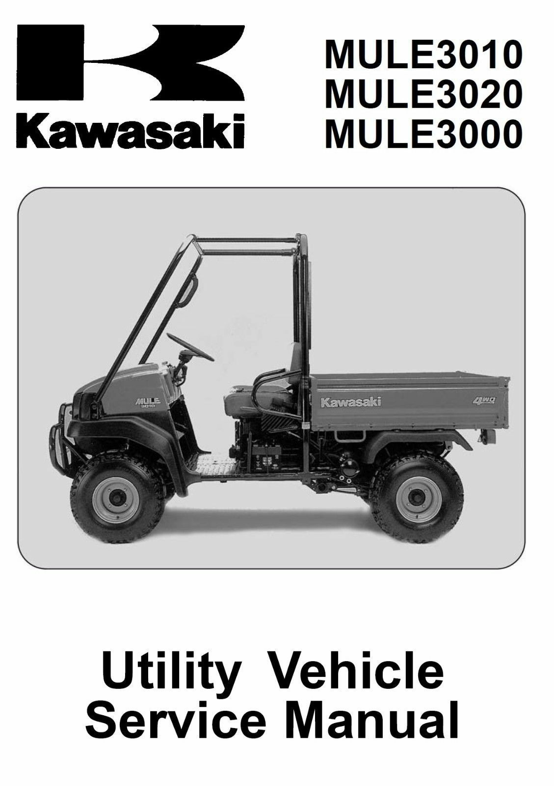 Kawasaki Mule 3000 3010 3020 2001 2002 2003 2004 2005 service manual on CD  1 of 4FREE Shipping ...