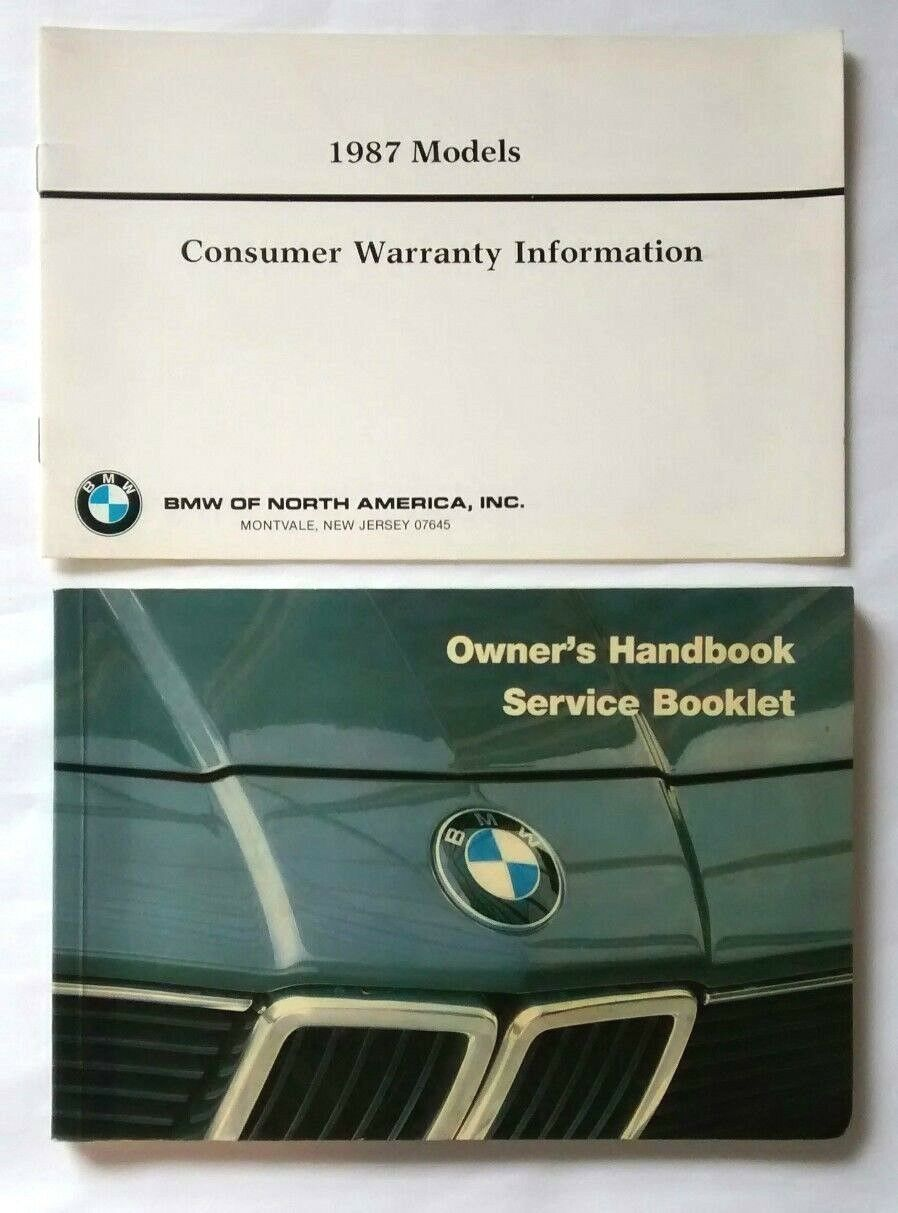 Original 1987 BMW 735i Owners Handbook Service Booklet Manual & Warranty 1  of 11Only 1 available ...