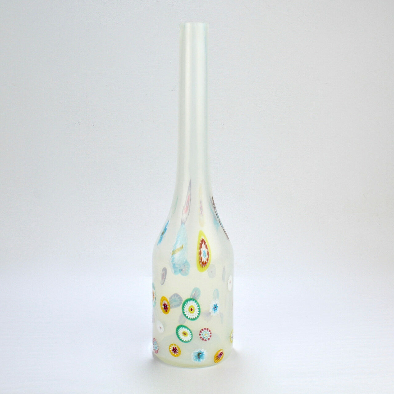 MURANO GL BIANCO & Murrine Bottle Vase by Ermanno Toso for ... on