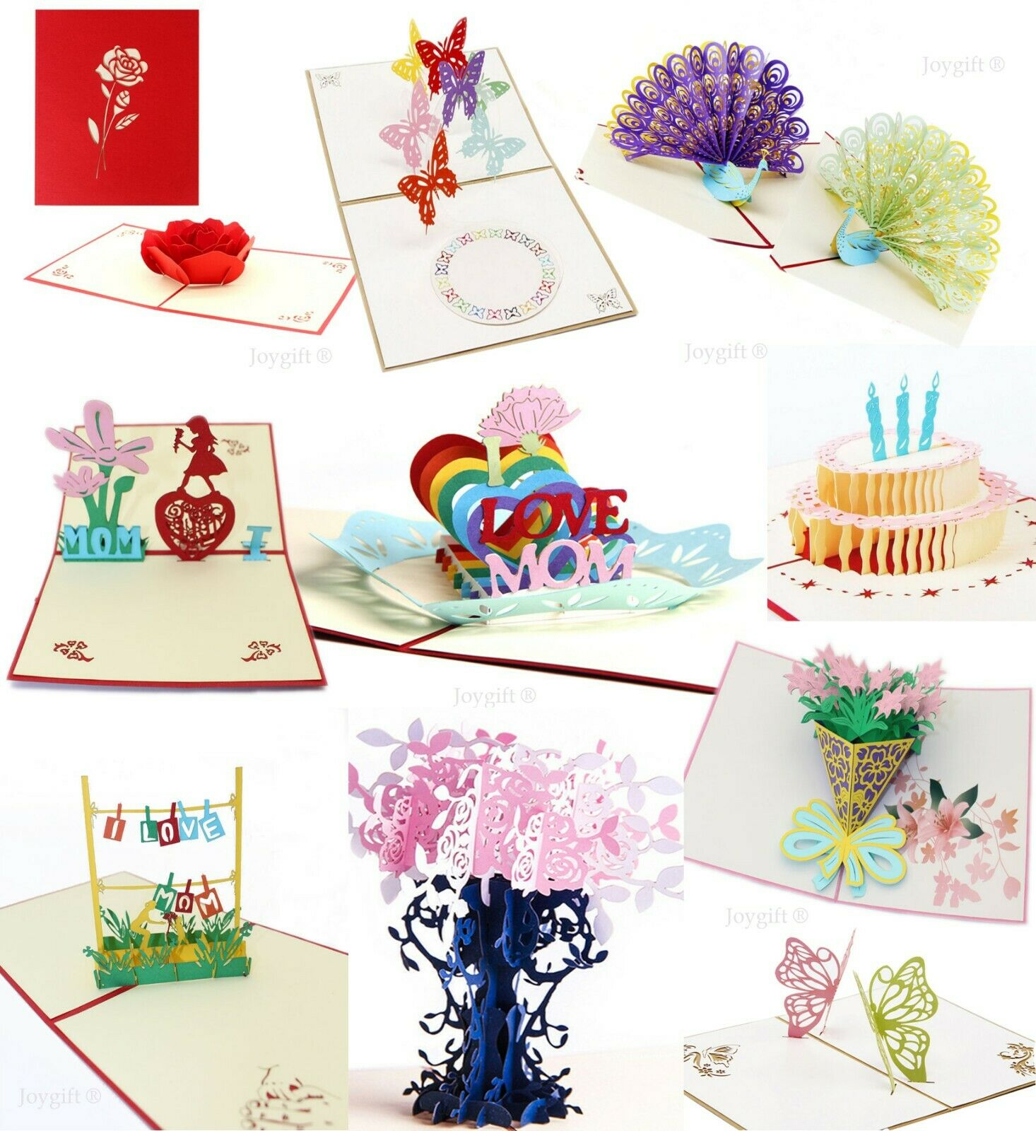 3d Pop Up Greeting Cards Happy Birthday Anniversary Love Gift