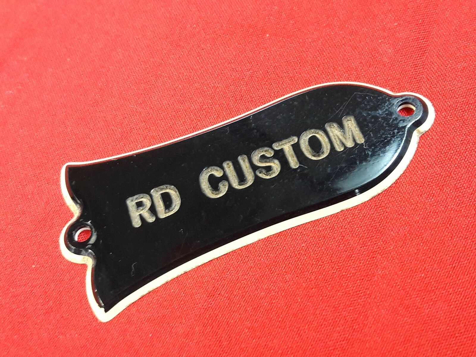 Vintage 1977 Usa Gibson Rd Custom Guitar Truss Rod Cover 1978 1979 Cavity Trussrod Model 1 Of 5only Available