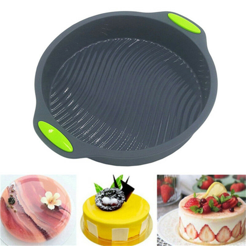 9 Round Silicone Cake Mold Pan In Bread Pastry Bakeware Tray Mould 1 Of 10free