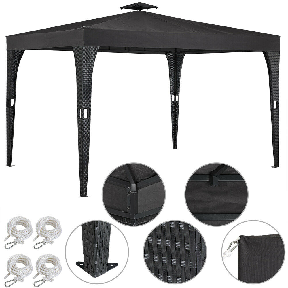 pavillon 3x4m pavilion gartenm bel garten partyzelt pavillion metall polyrattan eur 189 95. Black Bedroom Furniture Sets. Home Design Ideas