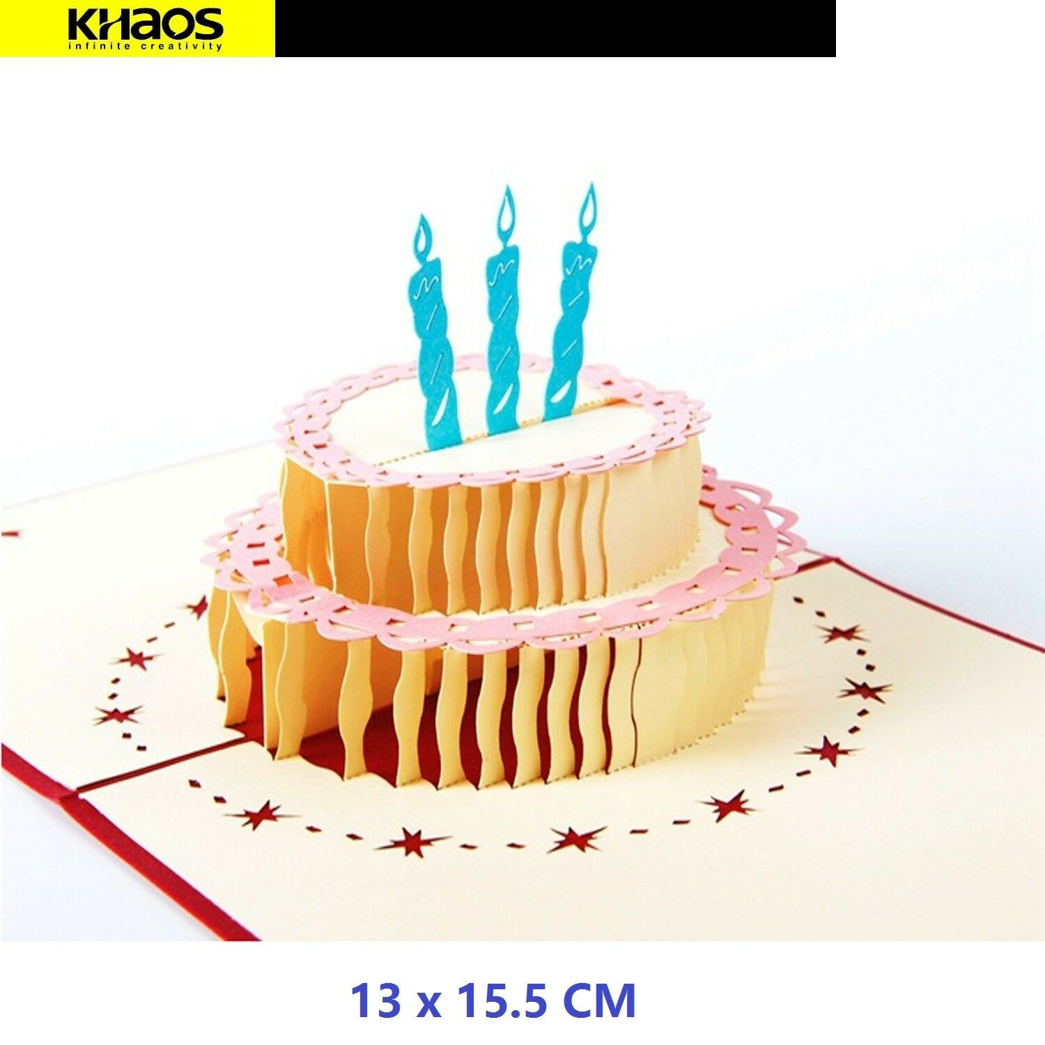 Colorful Cake Handmade Pop Up 3d Card Greeting Card Happy Birthday