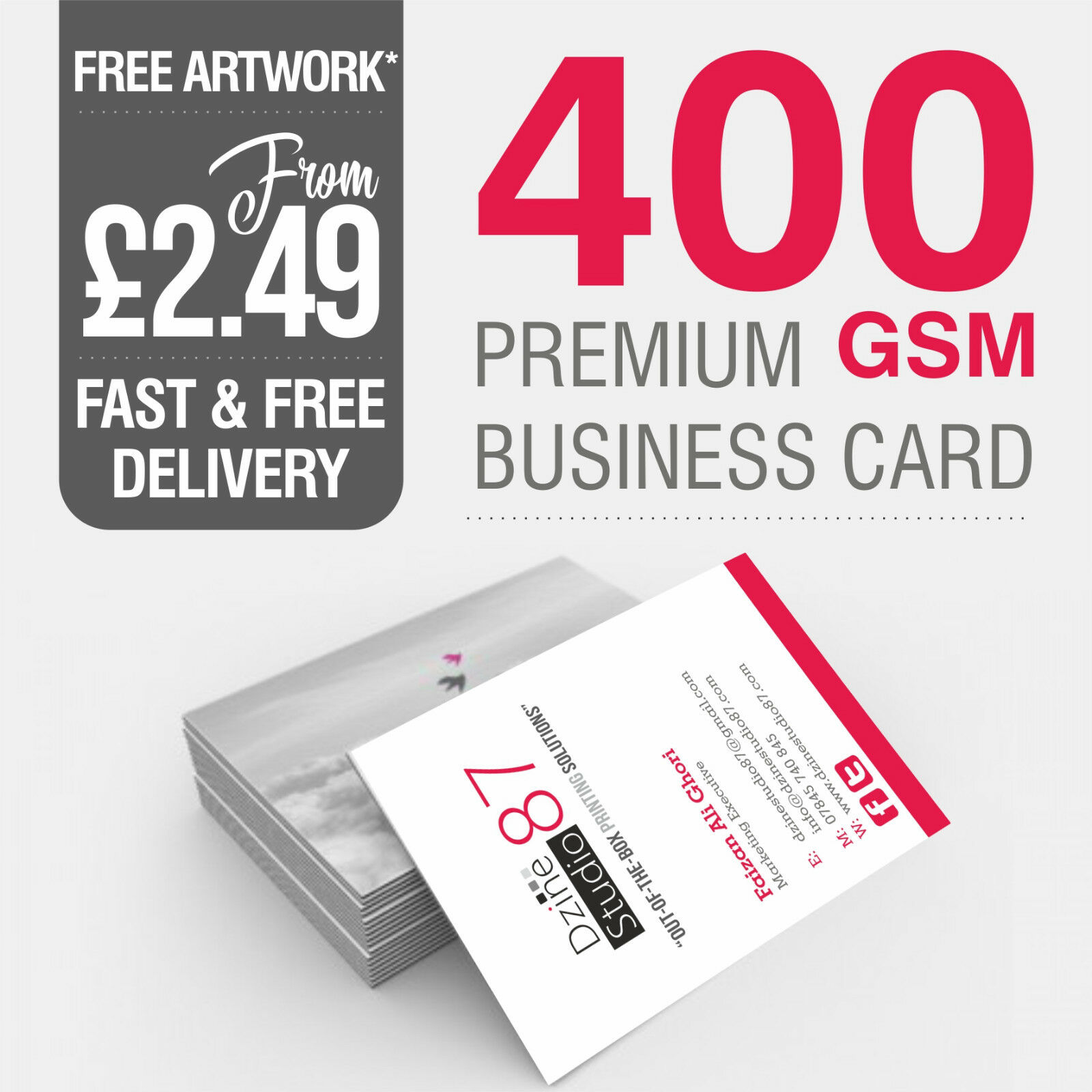 100 printed business cards full colour 350gsm400gsm card quantity 1 of 1free shipping reheart Image collections