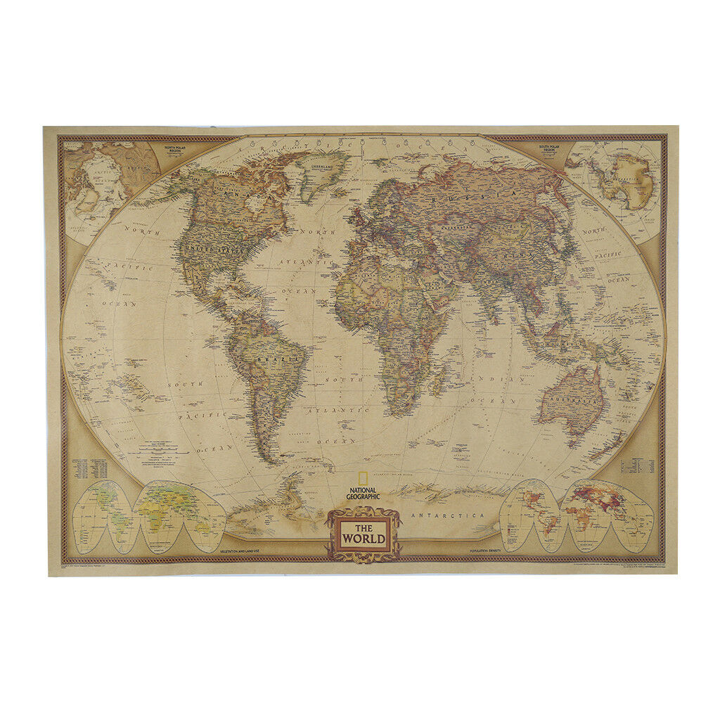 Retro matte kraft paper world map antique poster vintage home decor retro matte kraft paper world map antique poster vintage home decor wall sticker 1 of 7free shipping see more gumiabroncs Gallery