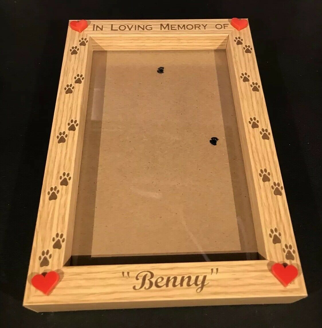 PERSONALISED ENGRAVED GLASS 6x4 Photo Frame - In Loving Memory Pet ...