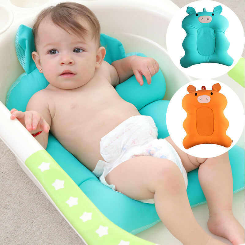 BABY BATH TUB Pillow Pad Lounger Air Cushion Newborn Shower Net ...