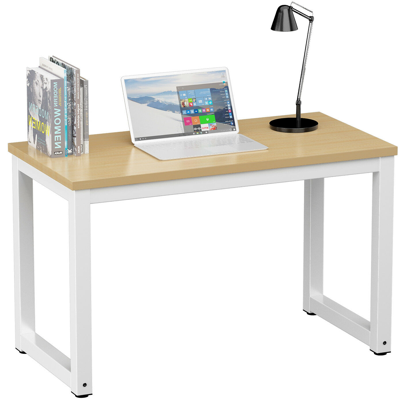 COMPUTER PC DESK Home Office Writing Table WorkStation Wooden Metal ...